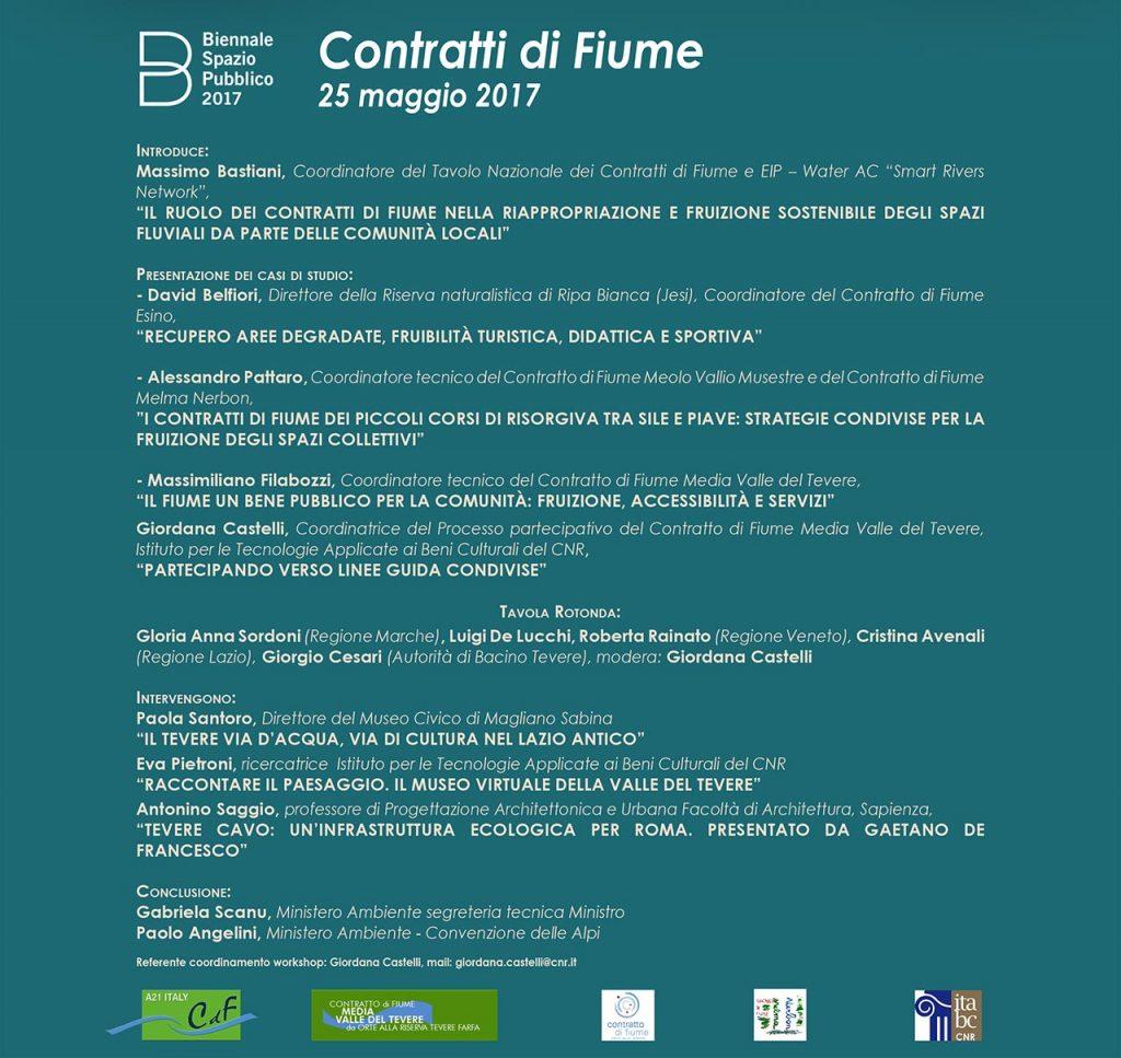 Biennale Spazio Pubblico Contratto di Fiume